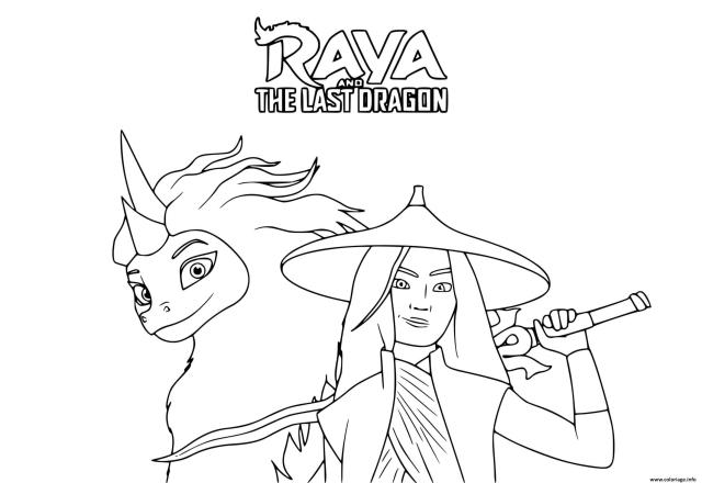 Coloriage Raya Et Le Dernier Dragon Film De Disney Dessin Raya Et