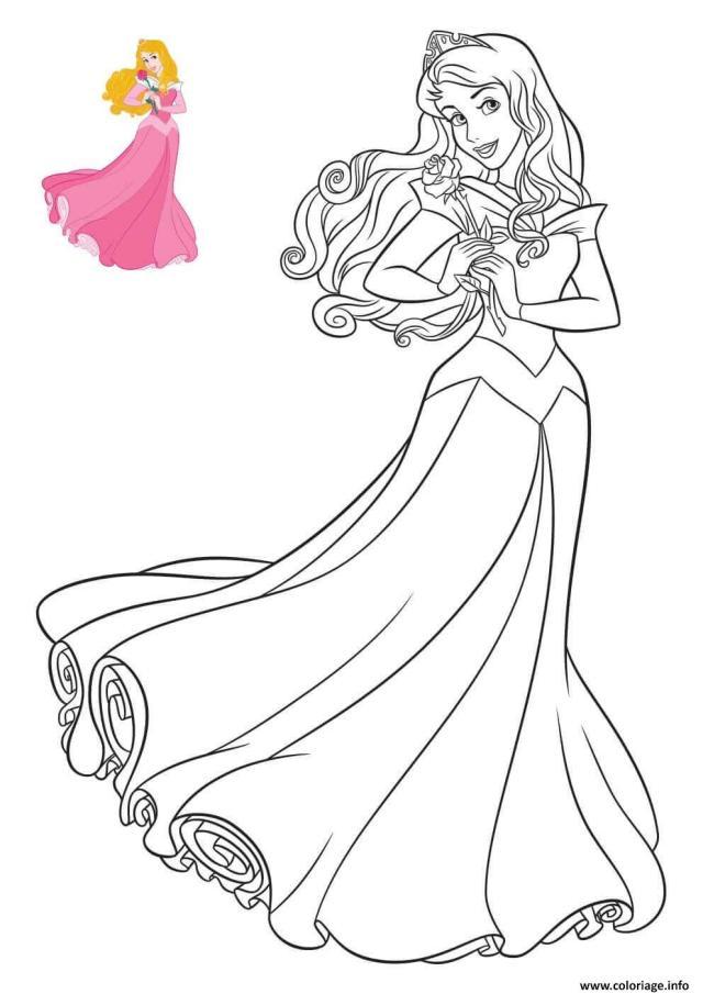 Coloriage Princesse Disney Aurore Dessin Aurore à imprimer