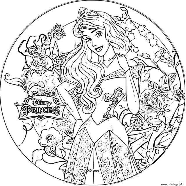 Coloriage Disney Princesse La Belle Au Bois Dormant Dessin La