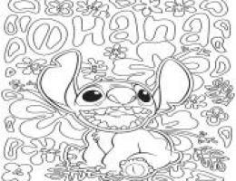 Dessin Disney Stitch Fille On Log Wall