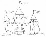 Coloriage Chateau Dessin Chateau Sur Coloriage Info