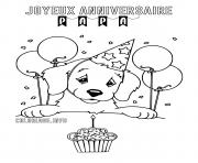 coloriage anniversaire dessin