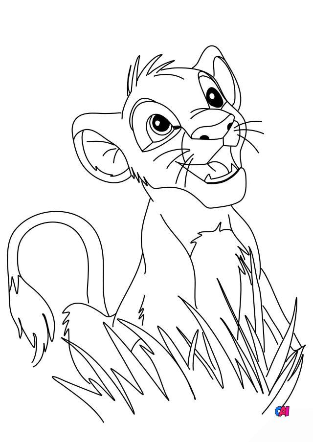 Coloriage Roi Lion à imprimer