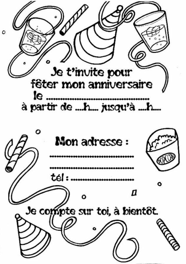 carton d invitation anniversaire