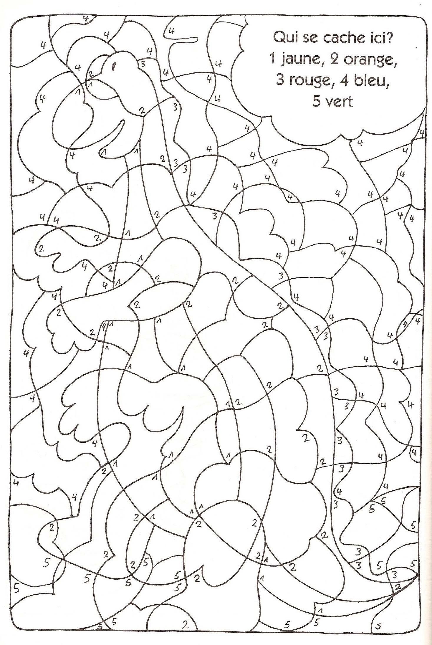 Coloriage Magique Facile 10
