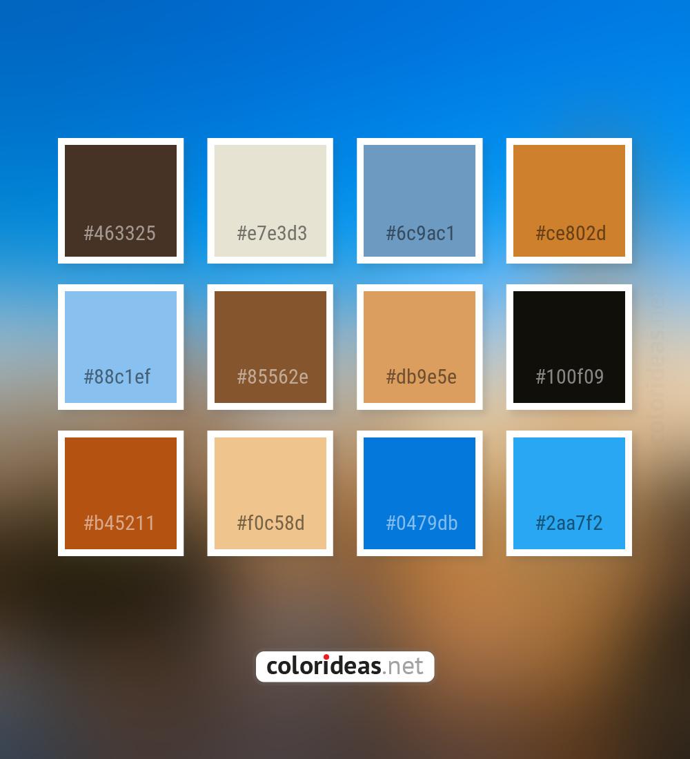 Bistre Dark Gray / Smoked Jordy Blue Skyblue Color Palette