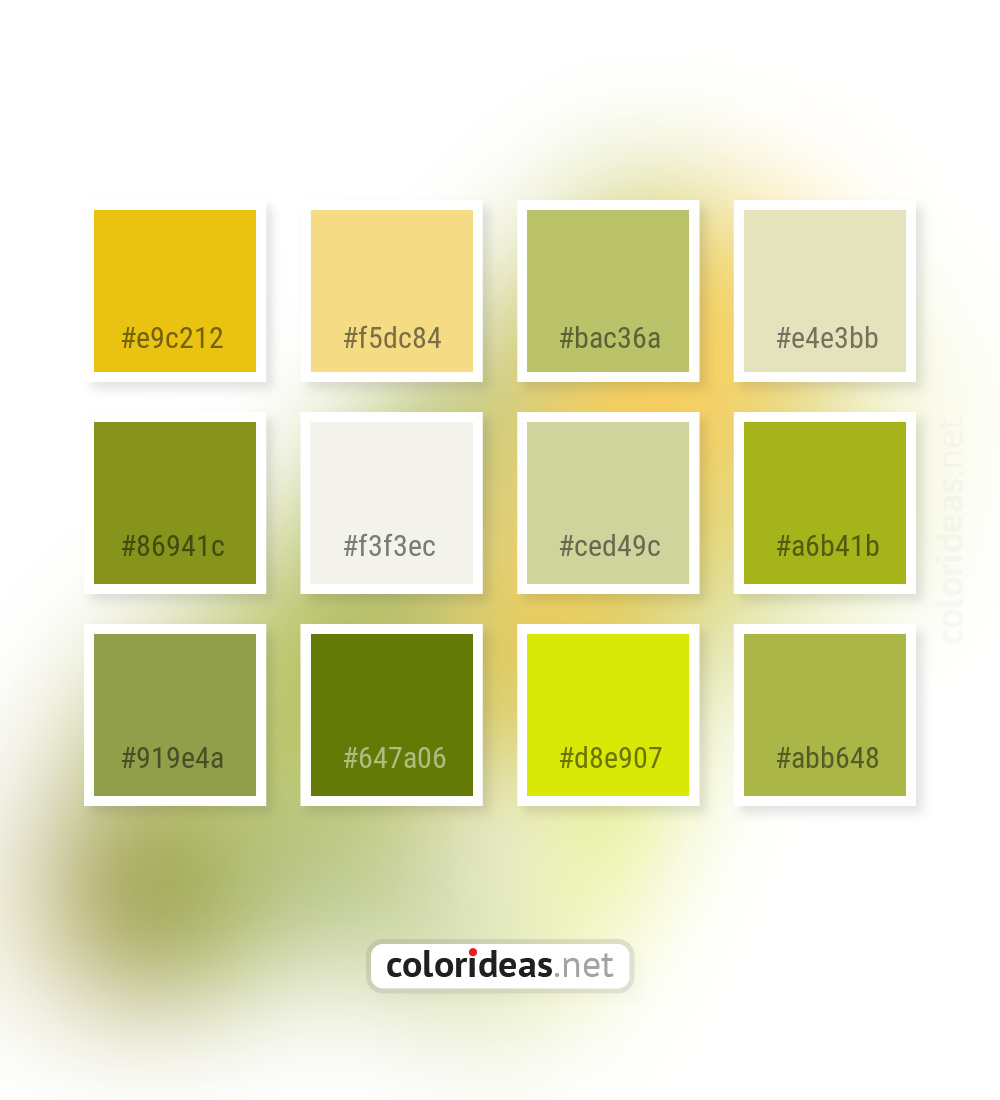 Gold Tips Yellow Trendy Green Brown Color Palette Color Palette Ideas