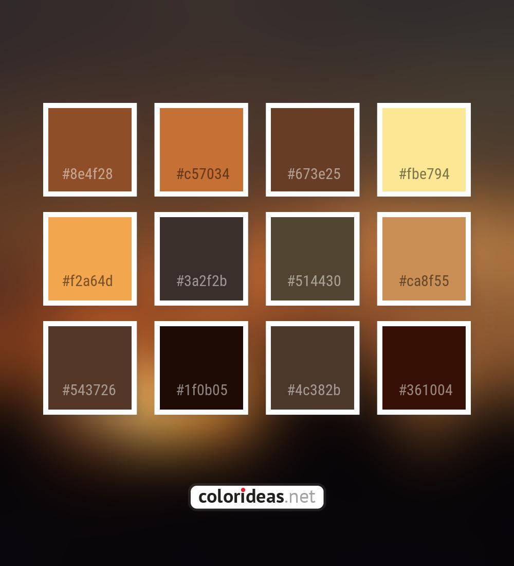 Mule Fawn Brown Orange Sandy Brown Color Palette Color Palette Ideas