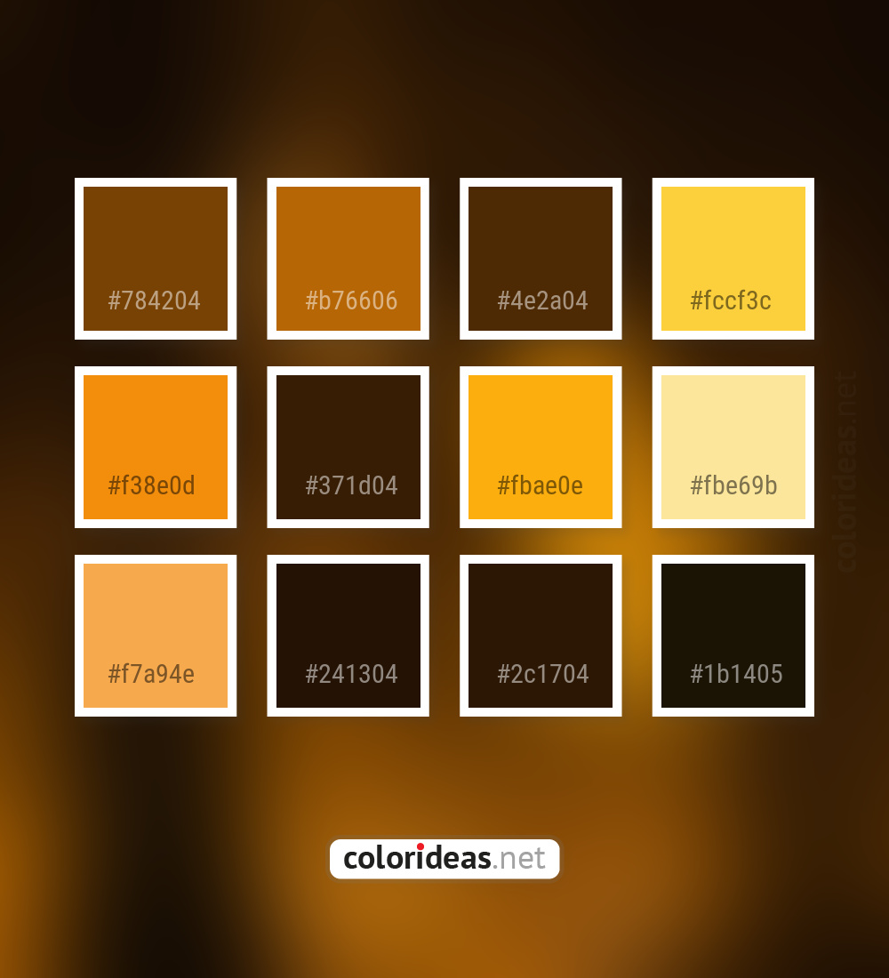 Peru Tan Brown Gamboge Orange Color Palette | Color palette