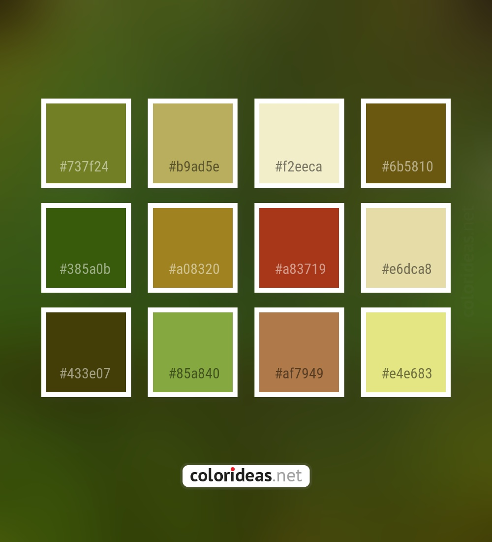Wasabi Brown Dark Gray Smoked Dark Green Color Palette Color Palette Ideas