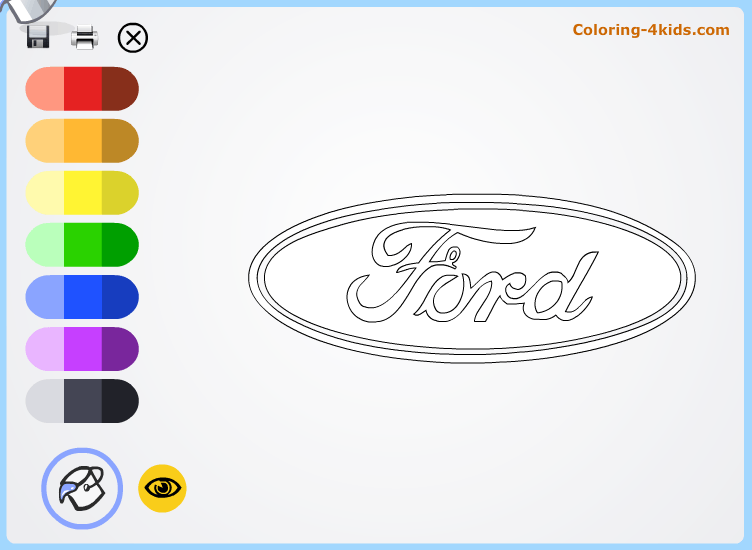 ford logo coloring pages online cars logos coloring pages