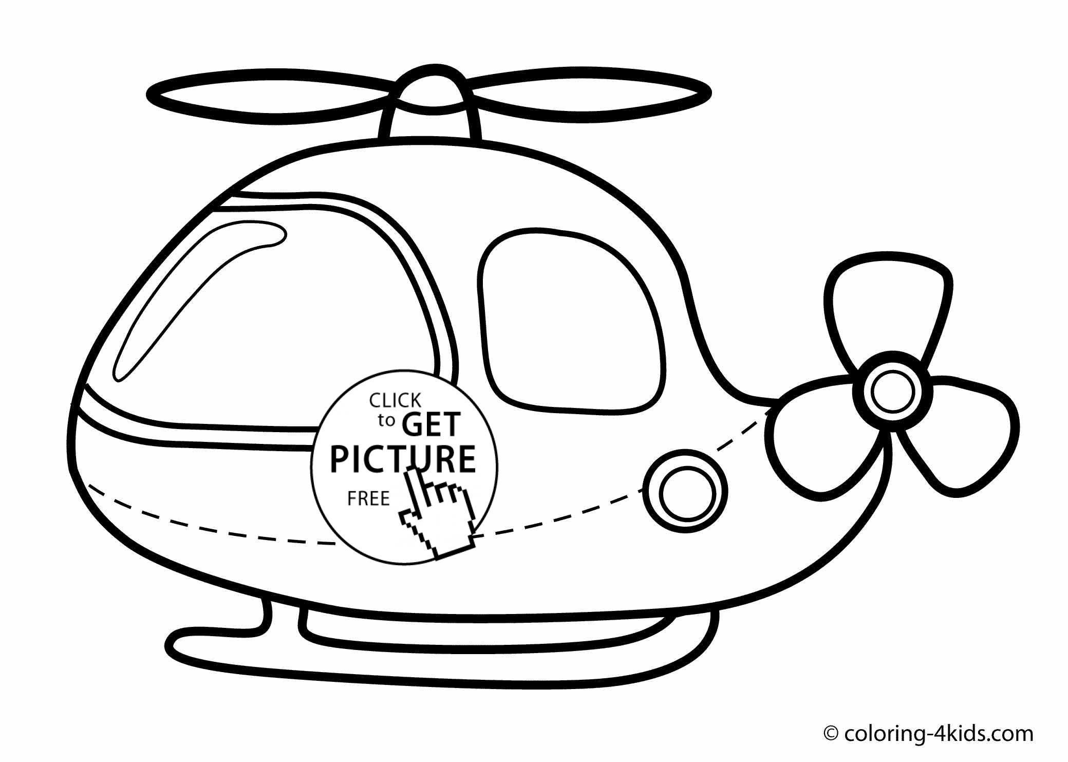 Helicopter Coloring Pages Helicopter Coloring Book For