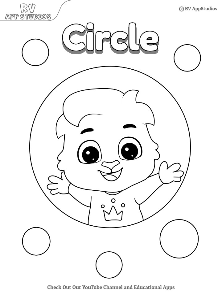 Circle Coloring Page Printable And Worksheets