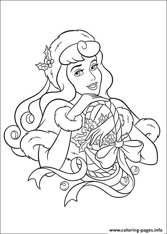 princess christmas coloring pages printable