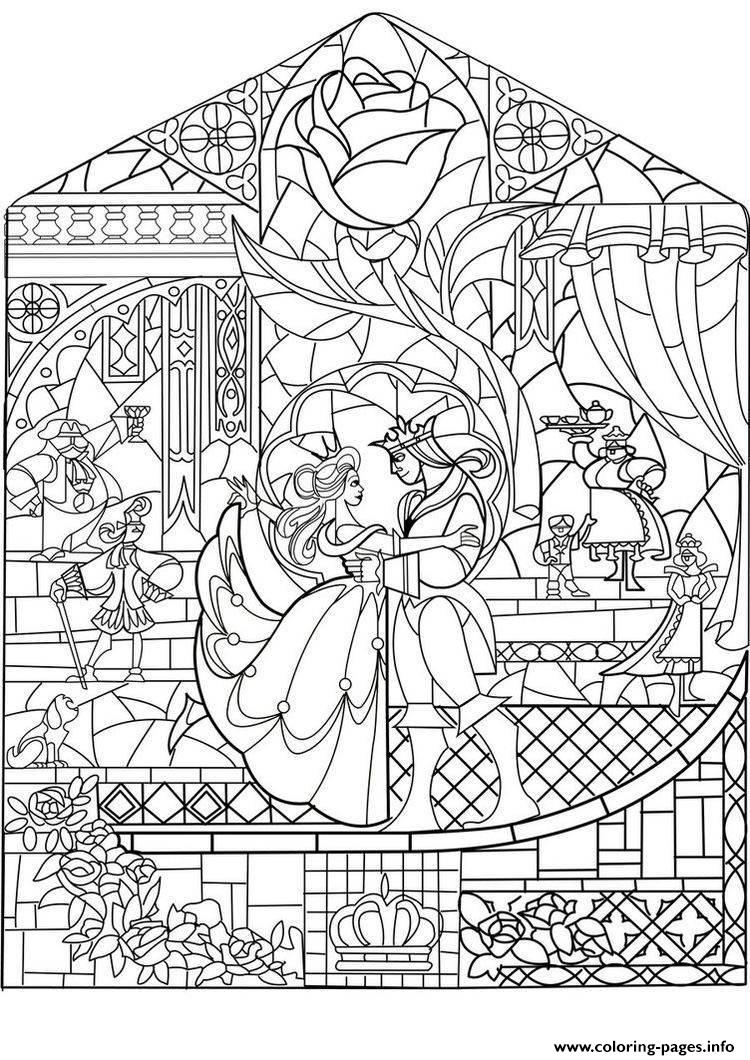 Adult Prince Princess Art Nouveau Style Coloring Pages ...   disney coloring pages for adults printable