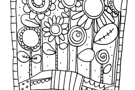Adult Coloring Pages Inspirational Design Ideas Flower Simple Flowers Floral The Graphics Fairy