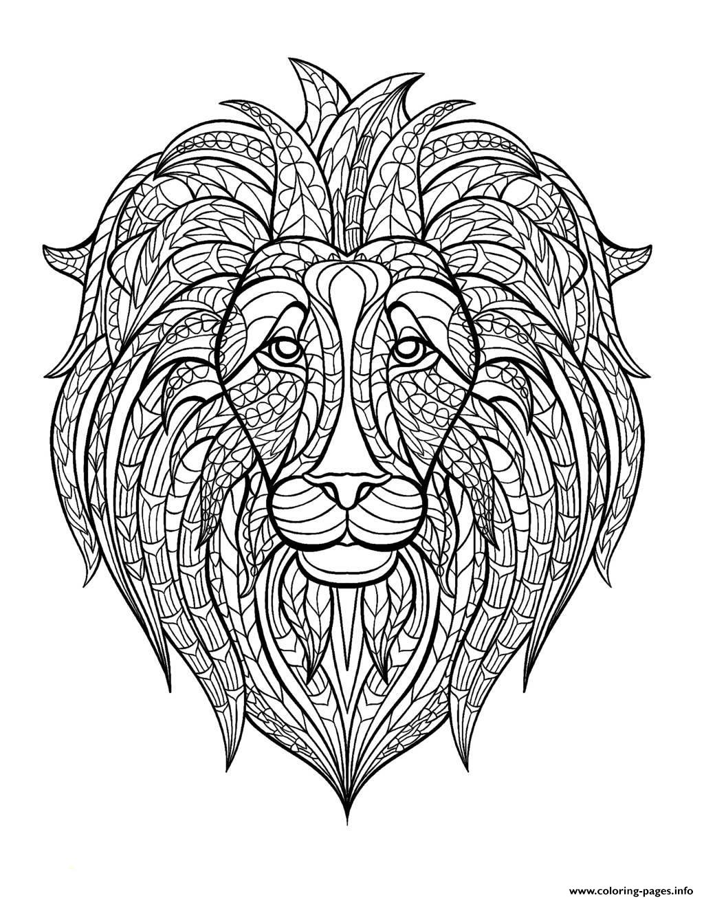 print adult lion head coloring pages free printable