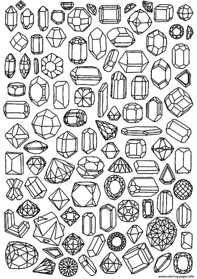 free adult coloring pages, Adult Zen Anti Stress To Print Diamonds coloring pages