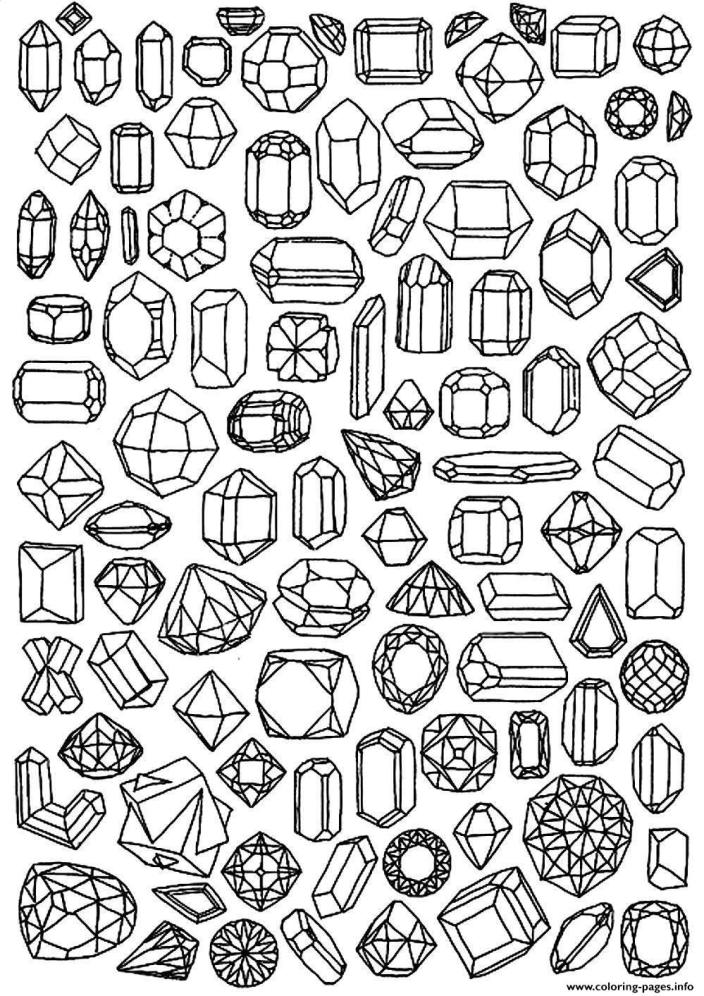 Adult Zen Anti Stress To Print Diamonds coloring pages