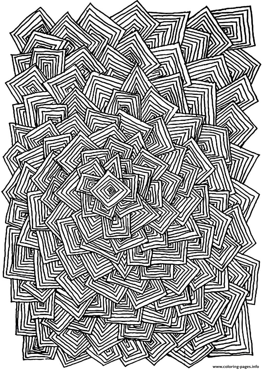 Adult Relax Squares Coloring Pages Printable