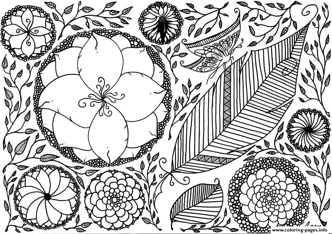 Adult Leen Margot Spring Coloring Pages Printable