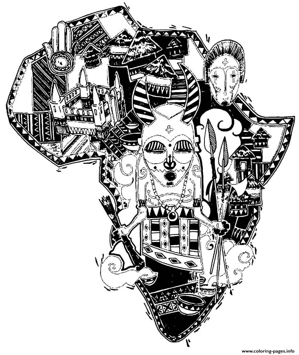 print adult africa difficult map coloring pages free printable