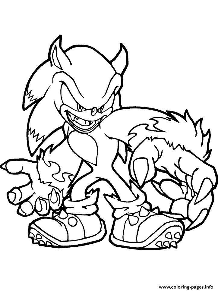 print sonic the new monster coloring pages free printable