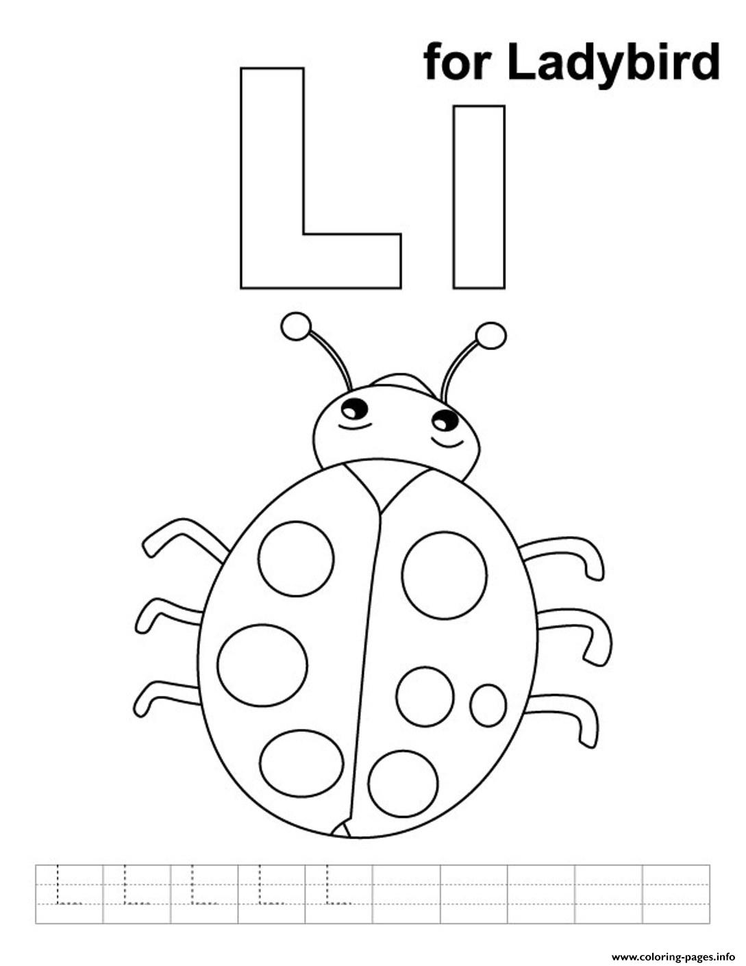 Ladybird Alphabet S Freefb73 Coloring Pages Printable