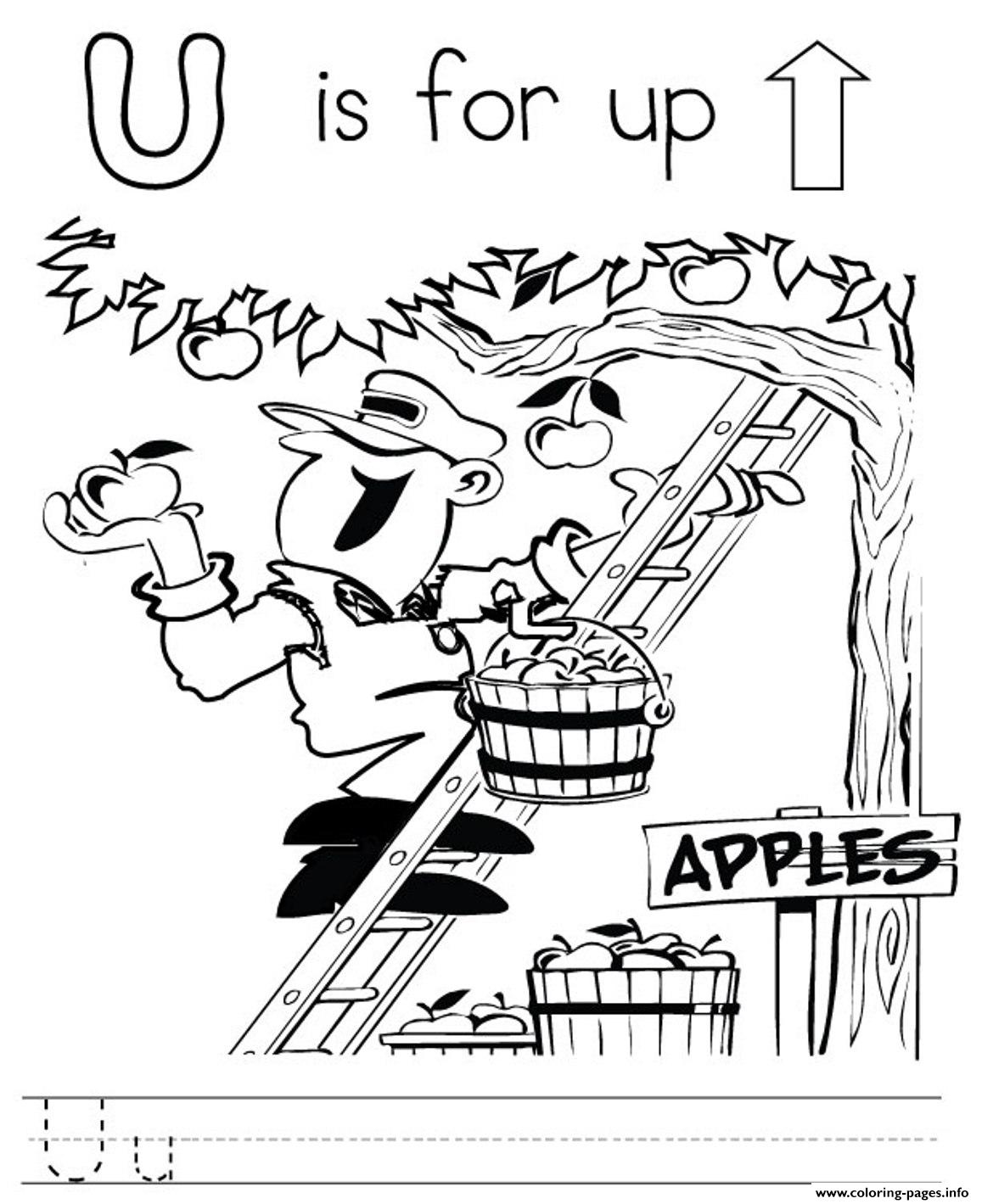 Letter U 1a91c Coloring Pages Printable