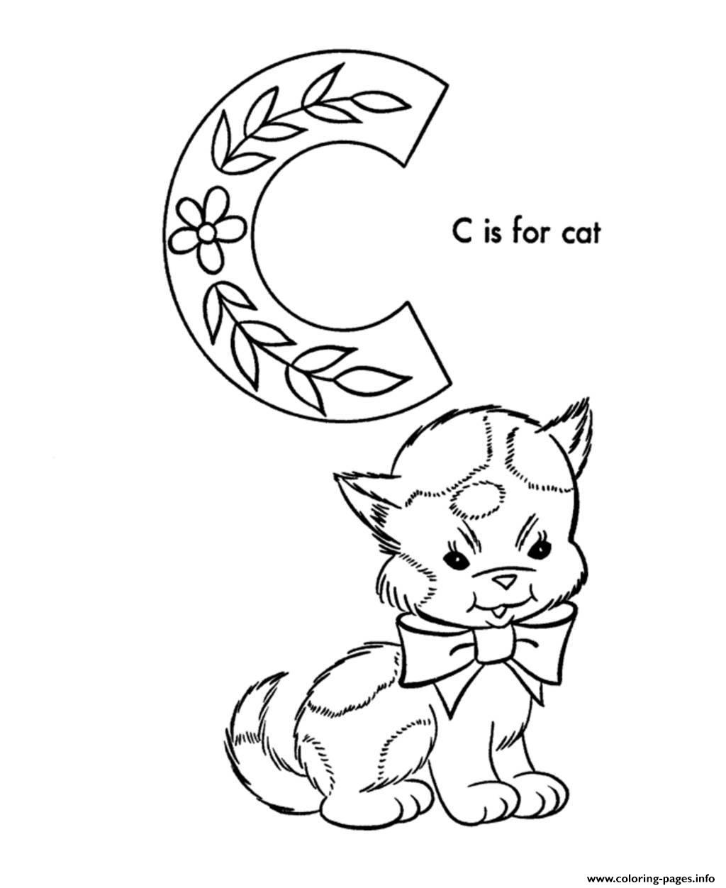 Cute Cat S Alphabet878f Coloring Pages Printable