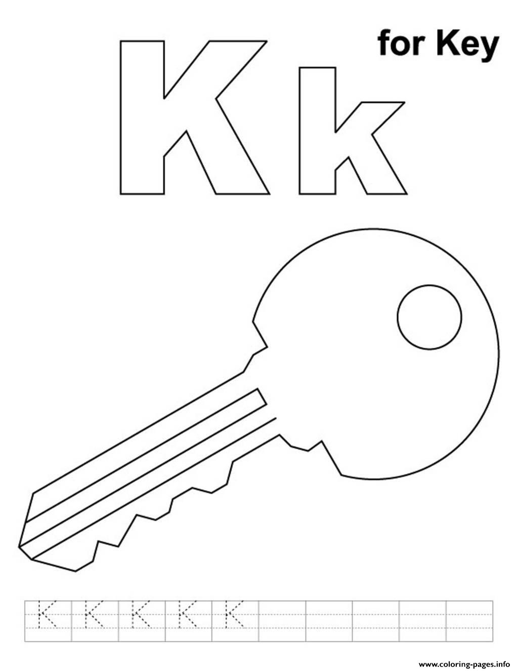 Key Alphabet S Freeff51 Coloring Pages Printable