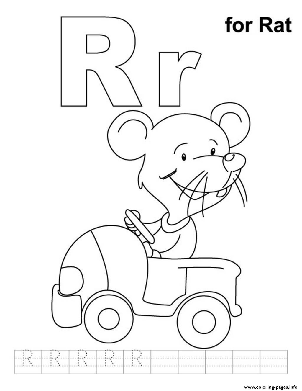 R Is For Rat Free Alphabet Sad6c Coloring Pages Printable