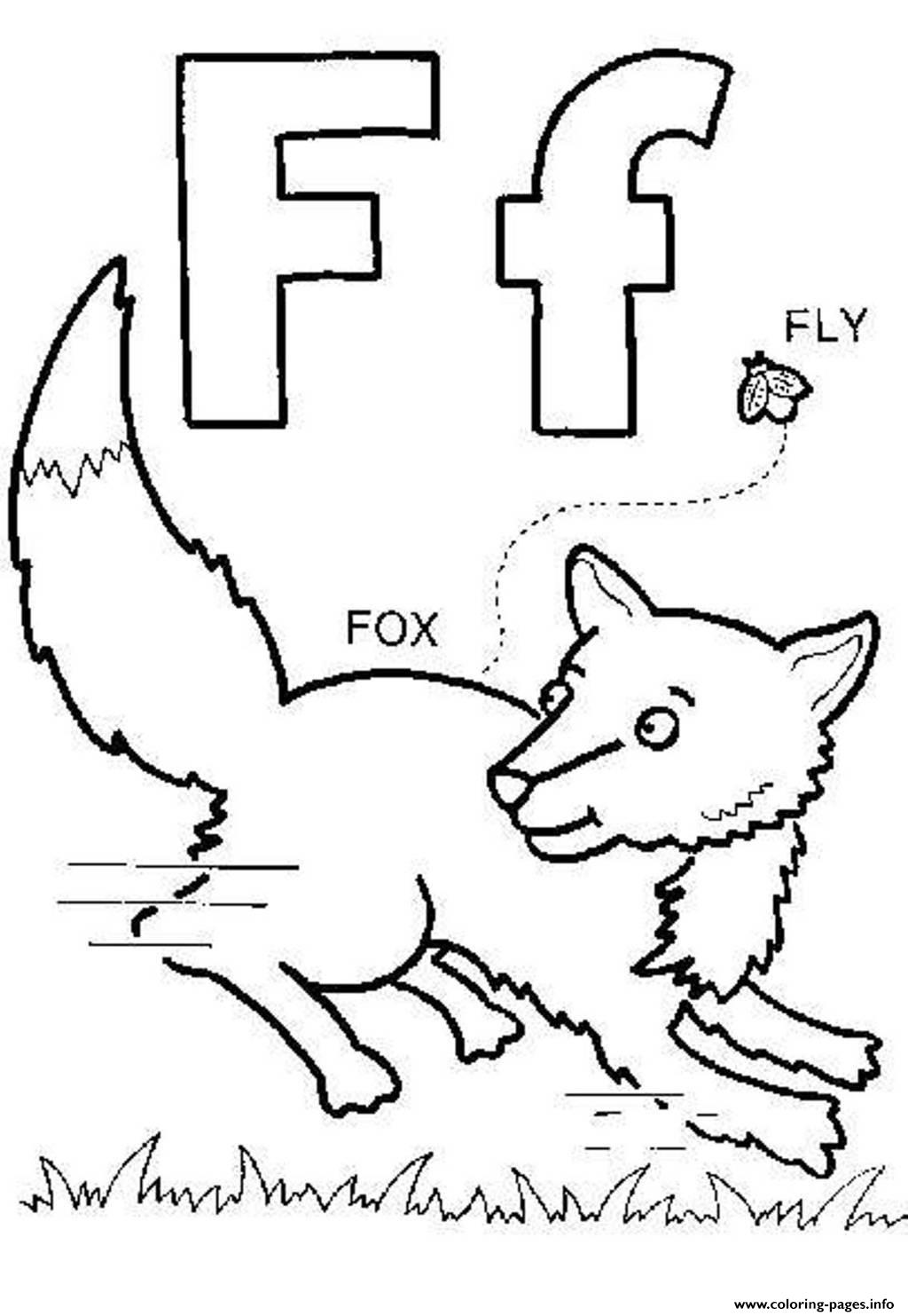 print fox and fly free alphabet scbf0 coloring pages free printable