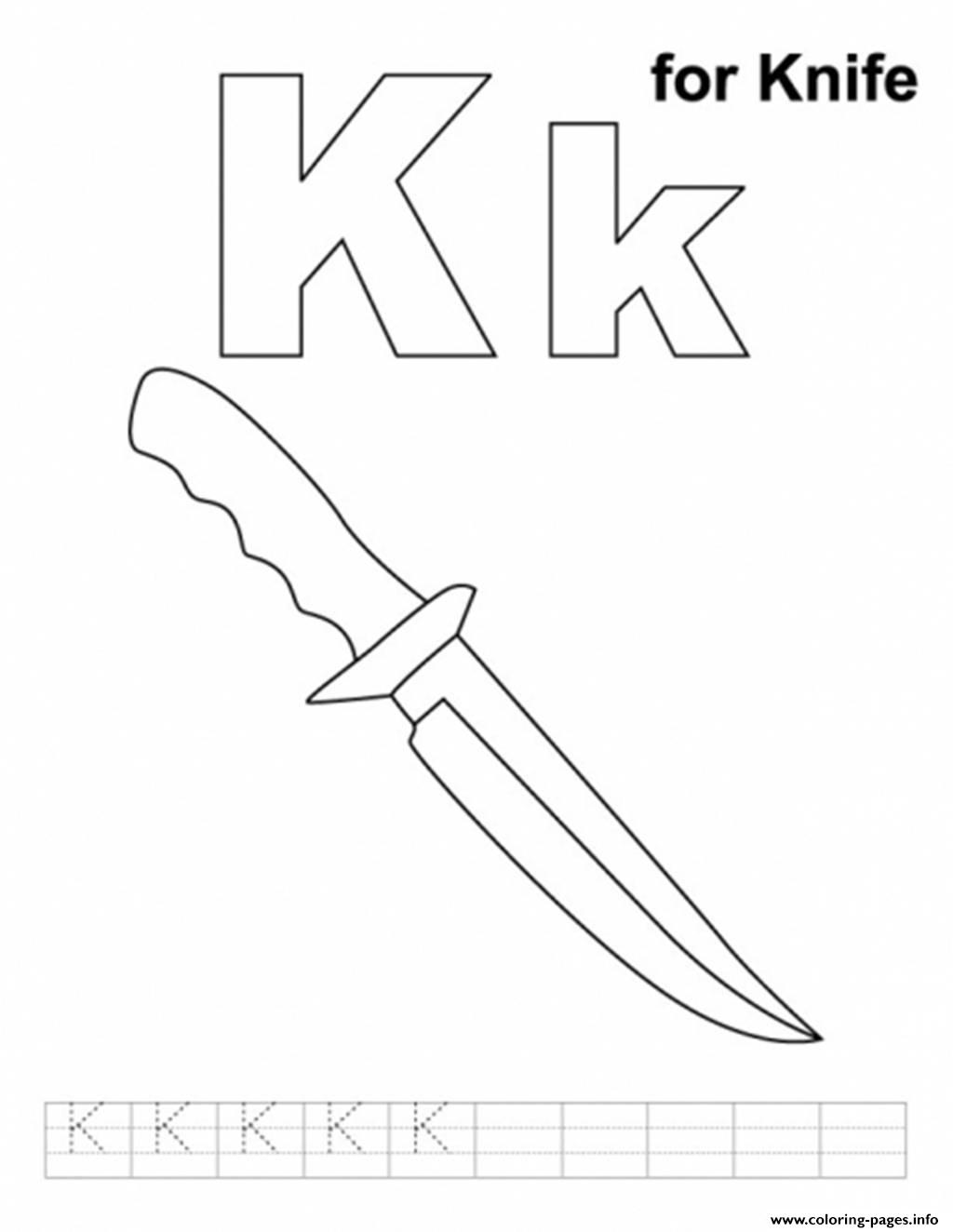 Knife Alphabet S Free70b9 Coloring Pages Printable