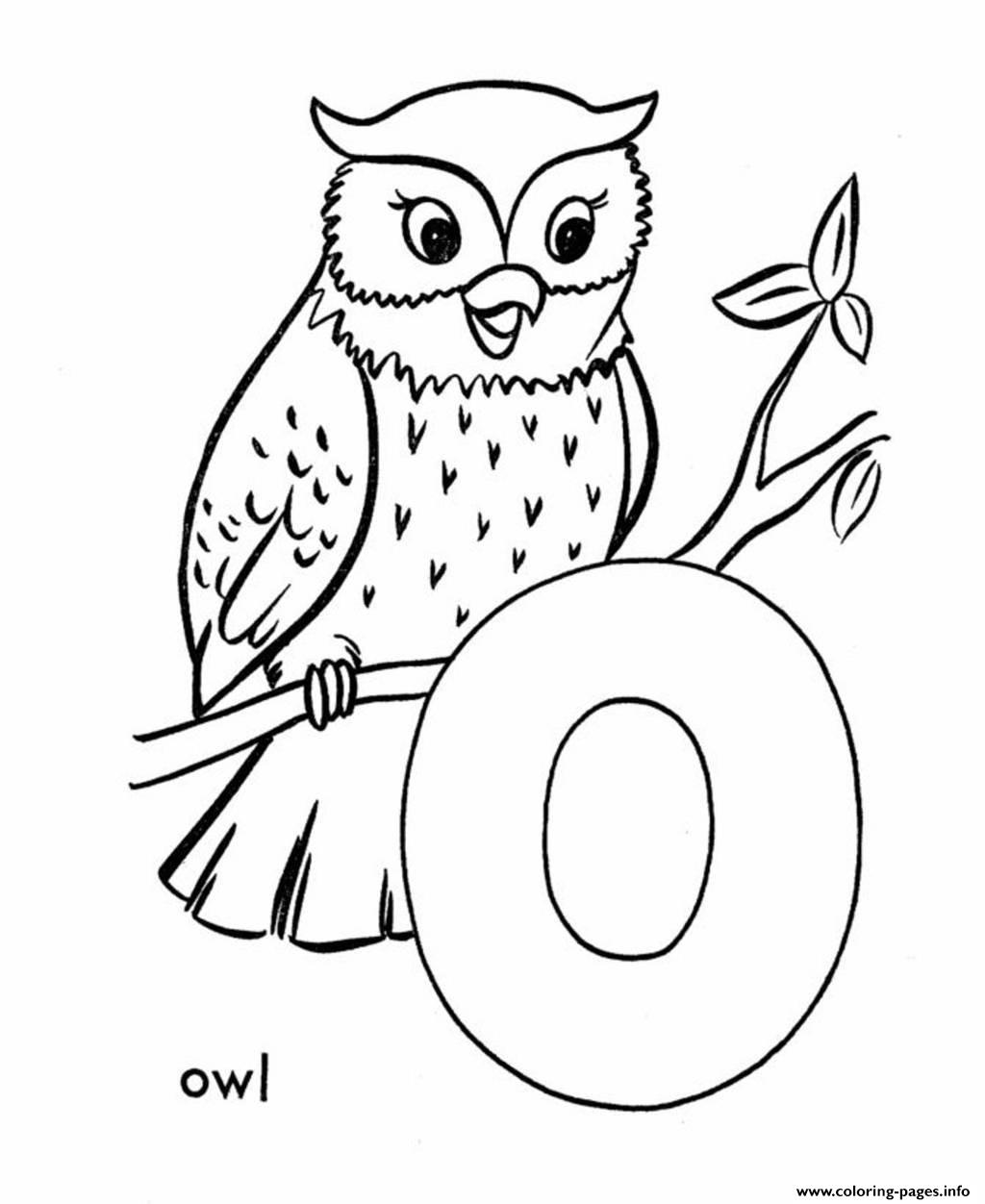 Alphabet S Owlf9e0 Coloring Pages Printable