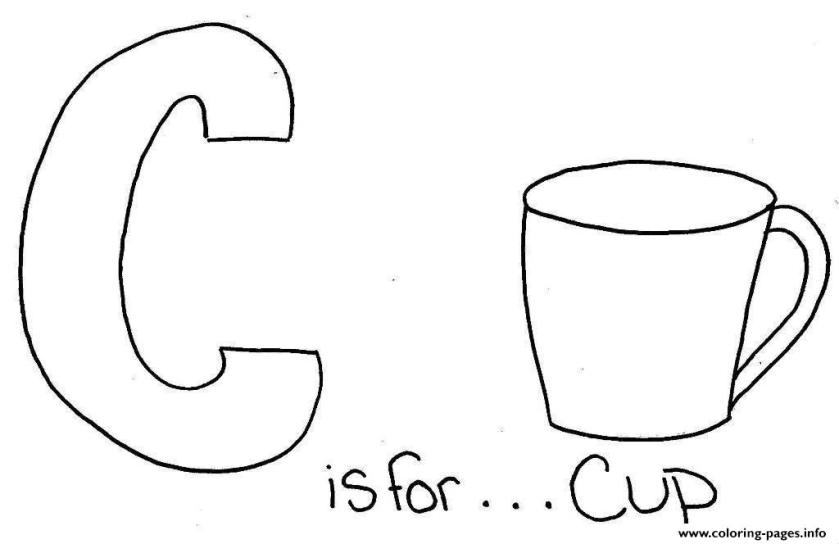 c is for cup s alphabetd2dd coloring pages printable