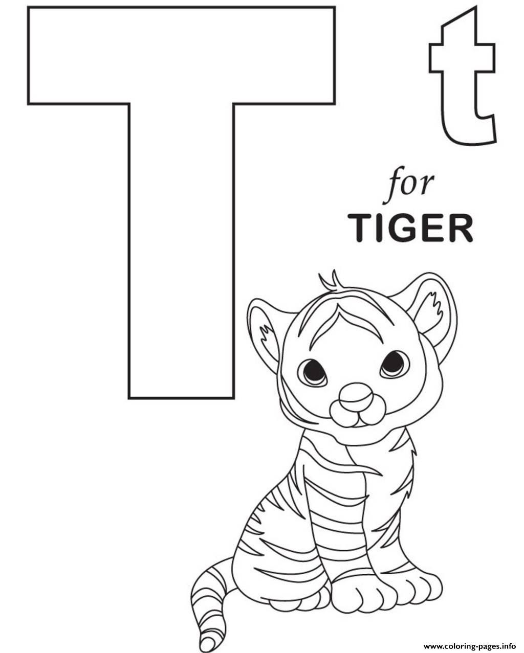 Little Tiger Alphabet 05e9 Coloring Pages Printable