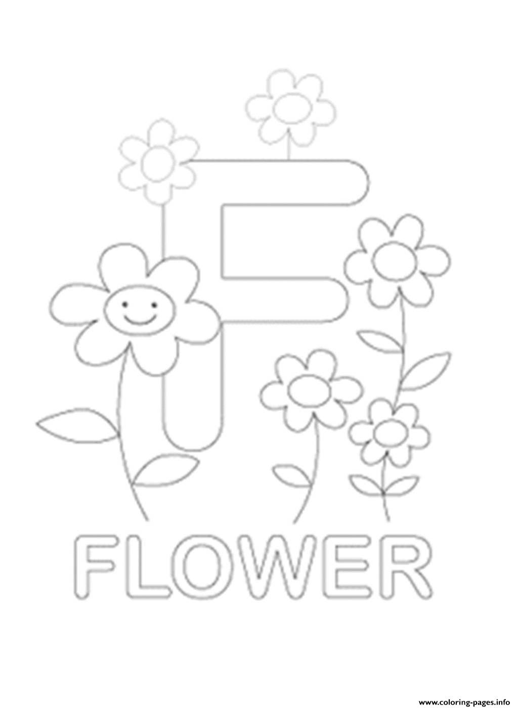 Flower Worksheet Kindergarten