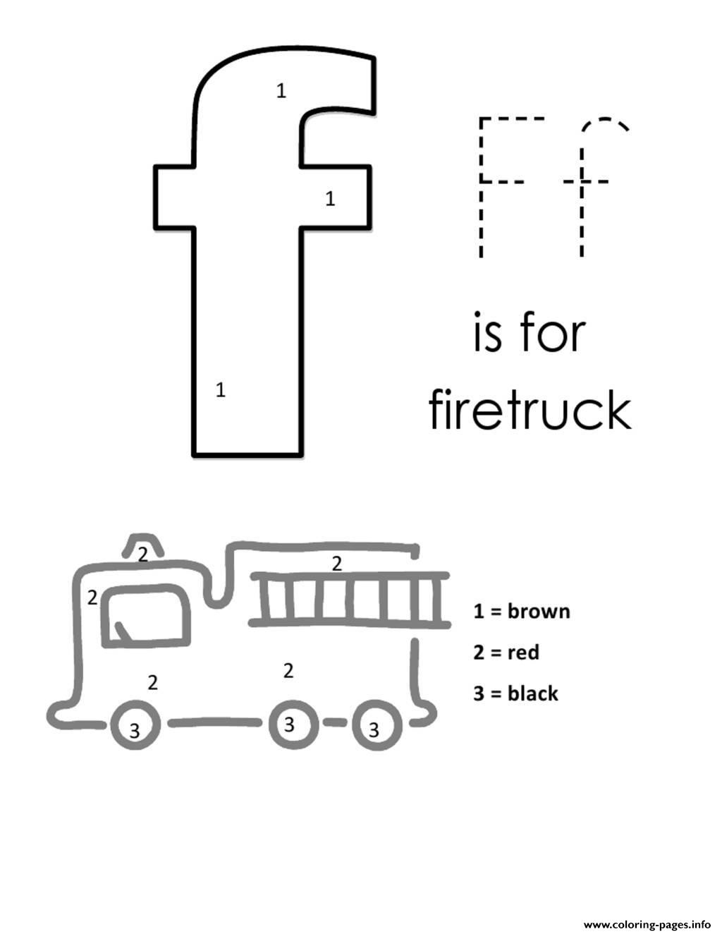 F For Firetruck Alphabet S Free3d9b Coloring Pages Printable