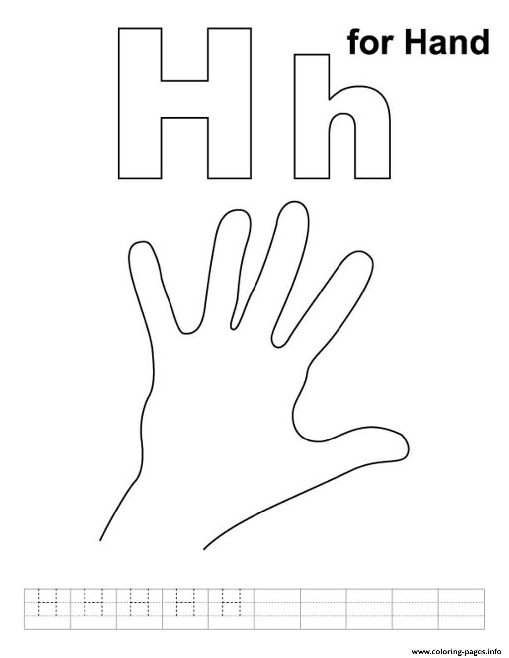 Alphabet H Is For Hande071 Coloring Pages Printable
