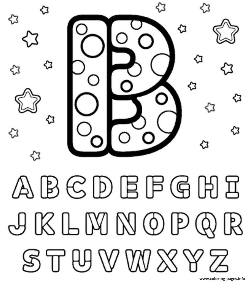 b letter alphabet s16 coloring pages printable