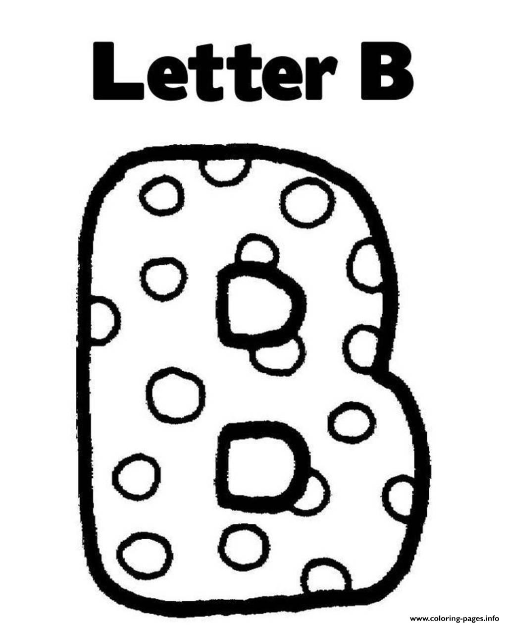 Letter B Alphabet S Free Coloring Pages Printable