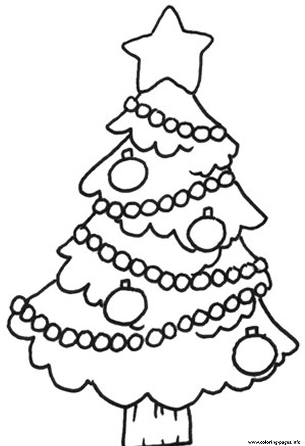 Easy Christmas Tree S For Childrenb7ca Coloring Pages Printable
