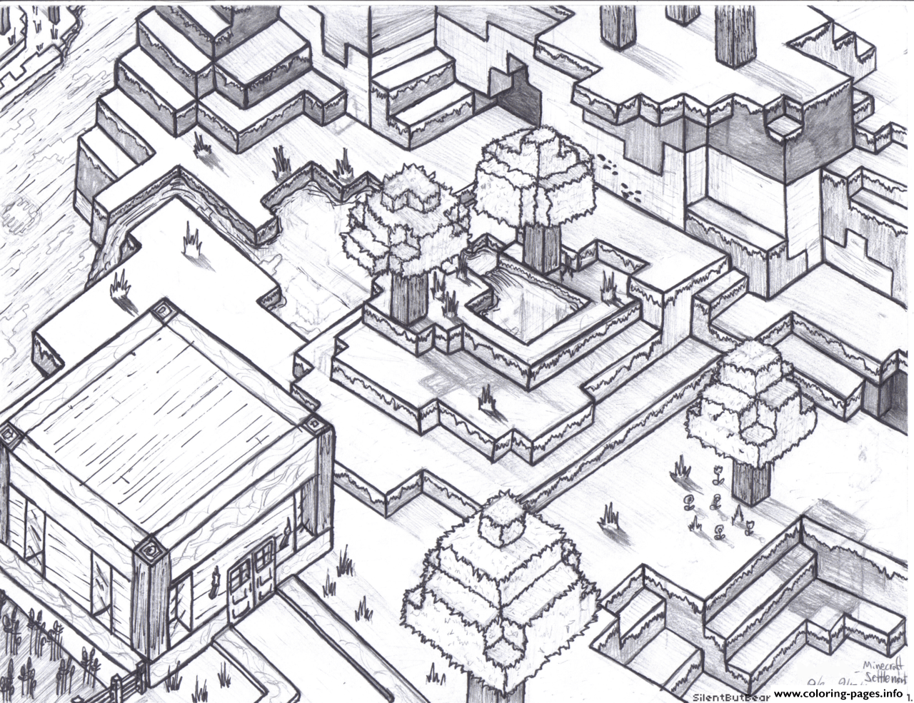 print minecraft world for free coloring free printable