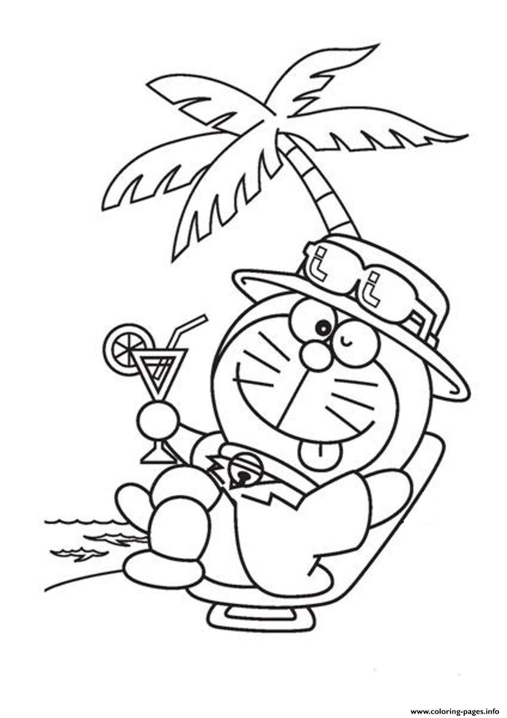 Relaxing Doraemon Cartoon Sf012 Coloring Pages Printable
