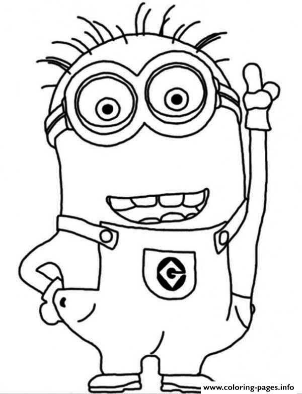 coloring pages print crazy dave the minion coloring page coloring
