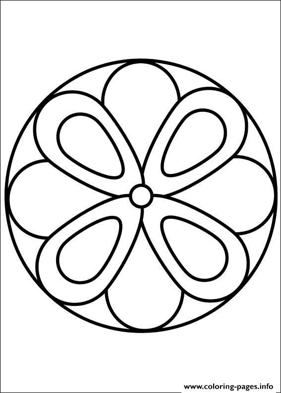 print easy simple mandala 63 coloring pages free printable