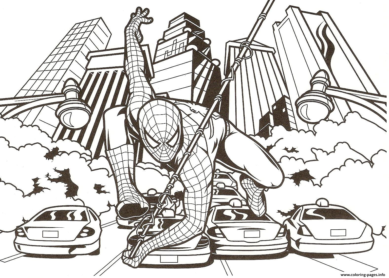 helicopters spiderman transformation coloring page super heroes