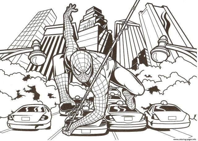 Amazing Spiderman S24db Coloring Pages Printable