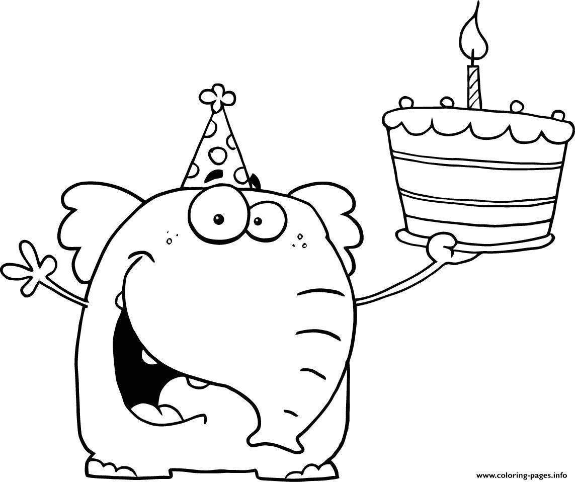 Happy Birthday S For Preschoolers Coloring Pages Printable